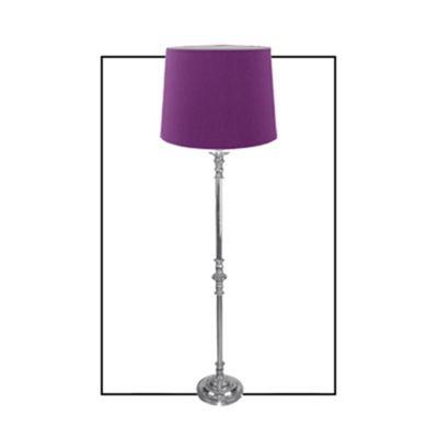 Chrome Floor Lamp with 18 inch Plum Shade