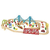 Carousel Build a World Wooden Train Set