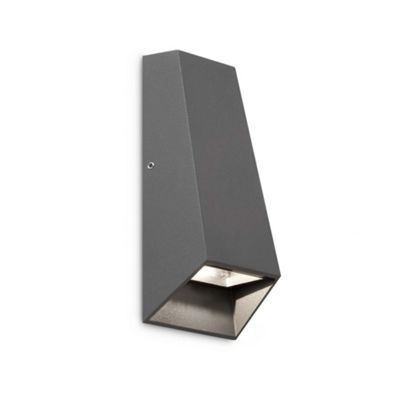 Faro Kanda Two Light Wall Lamp in Dark Grey