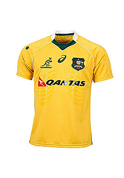 Asics Australia Wallabies Mens Replica Home Jersey 2016 - Yellow