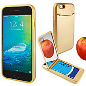 Orzly® 'On the Move' Case for iPhone 6 and 6S with Stand, Card Holder & Mirror - GOLD