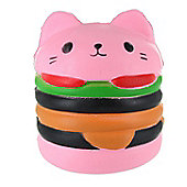 Childrens Slow Rising Squishies Stress Toy Scented Collectable-Pink Hamburger