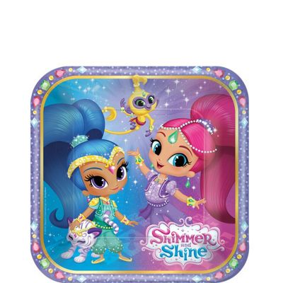 Shimmer & Shine Dessert Plates - 18cm Paper Party Plates
