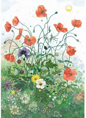 Red Poppies - 1000pc Puzzle