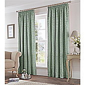 Fusion Eastbourne Pencil Pleat Curtains - Duck egg