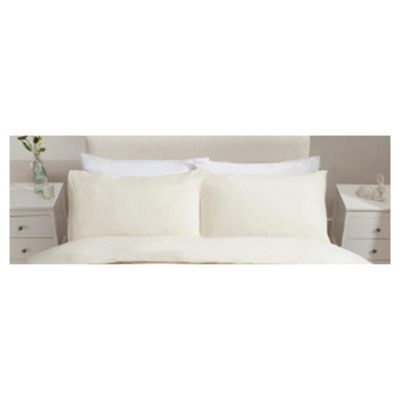 Tesco Jersey Pillowcases Cream Twinpack