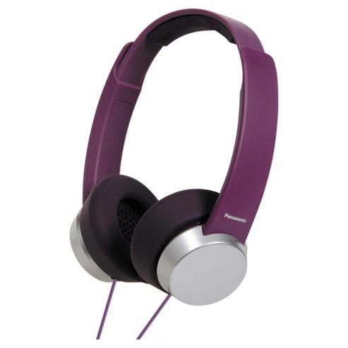 Panasonic RPHD3W Overhead Headphones Purple