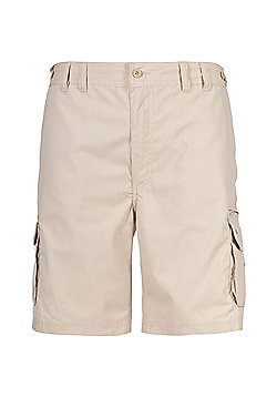 Trespass Mens Gally Multi Pocket Cargo Shorts - Beige