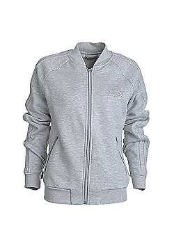 adidas Originals Womens Fleece Track Jacket Grey - Grey