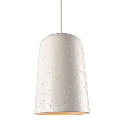 Odell Non Electric 60W Ceiling Pendant Light Gloss Porcelain Glaze