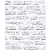 Superfresco Easy Paste The Wall White Brick Wall Effect Wallpaper