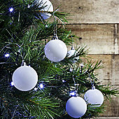 12pcs 6cm Shatterproof White Christmas Tree Bauble Decorations