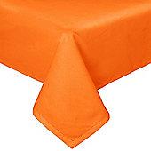 Homescapes Plain Cotton Orange Tablecloth, 54 x 54 Inches