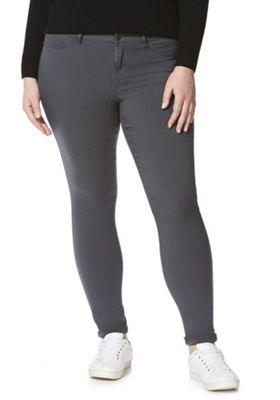 Junarose Slim Leg Plus Size Jeans Grey 18