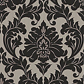 Superfresco Easy Majestic Paste The Wall Damask Black/Gold Wallpaper