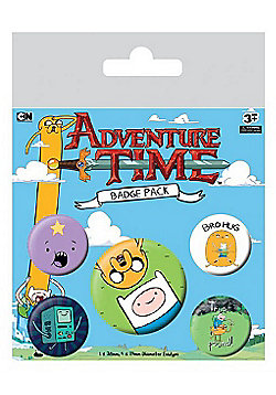 Adventure Time Bro Hug - AT Badge Pack 10x12.5cm - Multi