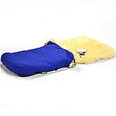 Bowron Sheepskin Cocoon Footmuff - Short Wool Blue