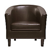 Tub Chair Armchair club Chair for Dining Living Room (Brown)
