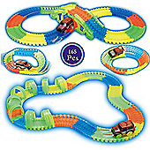 165pc Magic Glow In The Dark Light Up Led Bend Flexible Car Race Track