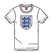 England Football Kids Large Logo Crest Tee - White - White