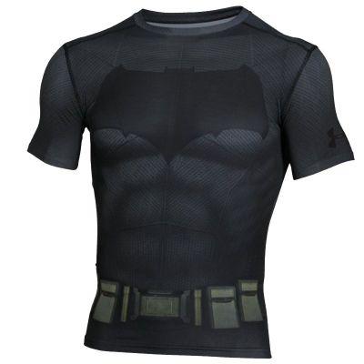 Under Armour Batman Suit SS Compression - Graphite Size - S