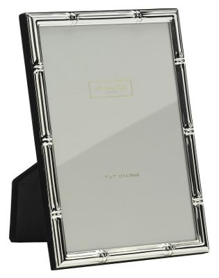 Addison Ross Photo Frame Silver Plate Bamboo Frame - 4 in x 6 in