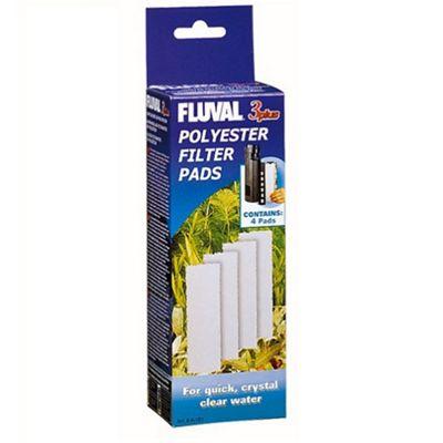 Fluval 3 'Plus' Polyester Pad (4Pcs)