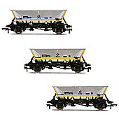 HORNBY Wagon R6890 HFA Hopper Wagons, Barry - Three Wagon Pack - Railroad