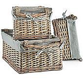 VonHaus Set of 3 Willow Baskets