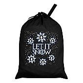 Let It (Jon) Snow Santa Sack 46x60cm, Black