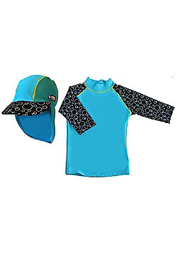 Swimpy UV Shirt and Sun Hat Blue 2 to 4 Years