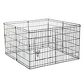 PawHut 8 Panel Pet Cage Playpen Dog Puppy Metal Cage Kennel Indoor Outdoor (24 In)