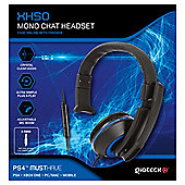 XH-50 WIRED MONO HEADSET (BLACK/BLUE) (PS4) (2/24) XBONE
