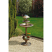Solar Bird Bath /Feeder - Antique Bronze