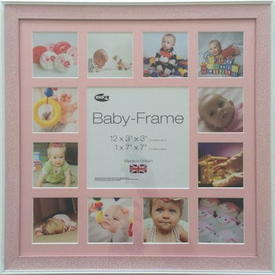 Inov8 Pink Wash Instagram Photo Frame for 13 Instagram Photos with Pink Mount