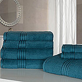 Dreamscene Luxury Egyptian Cotton 7 Piece Towel Bale Set - Teal