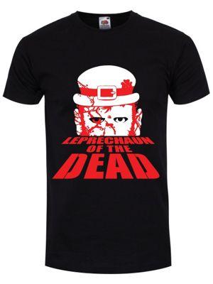 Leprechaun Of The Dead Men's T-shirt, Black.