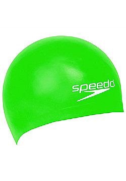 Speedo Silicone Moulded Swimming Cap Junior Kids - Green