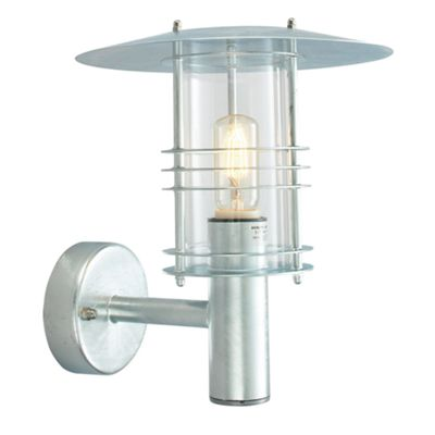Galvanised Wall Lantern Grande - 1 x 100W E27