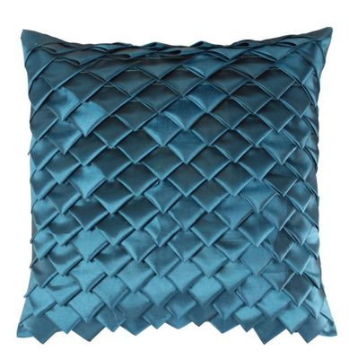 Sapphire Satin Folds Cushion Striking Design Home Decor