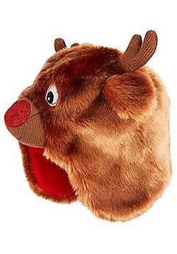 F&F Hat with a Heart Light-Up Reindeer Hat - Brown