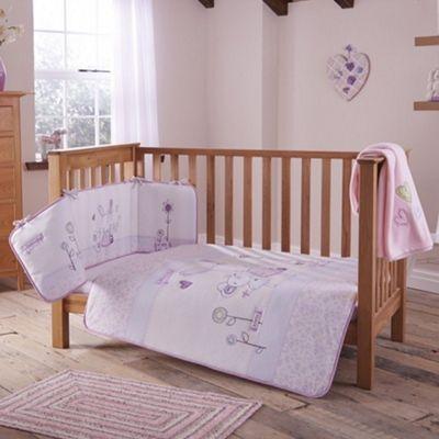 Clair De Lune 4pc Cot Bed Bedding Set Rebecca Rabbit