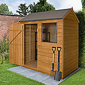 Forest Garden Overlap Dip Treated 6x4 Reverse Apex Shed