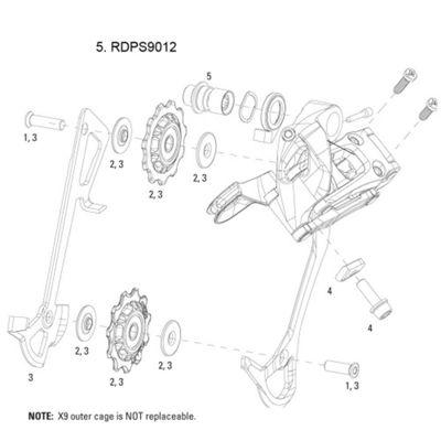 SRAM B-Bolt Kit for Rear Derailleur X7/X9 2010