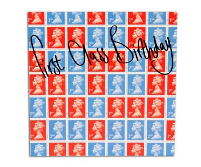 STAMP COLLECTION - Greetings Card - First Class Birthday