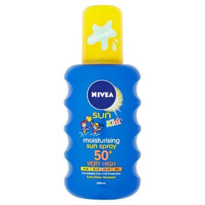 NIVEA SUN Kids Moisturising Sun Spray 50+ Very High 200ml