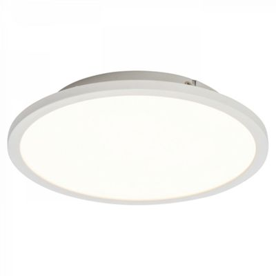 Gloss White & Opal Ps Plastic 250mm Flush 10W