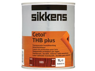 Sikkens Cetol THB Plus Translucent Woodstain Teak 1 Litre