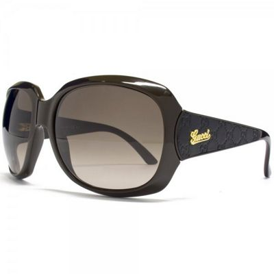 Gucci Sunglasses Oversize in Brown with Gradient Brown Lens
