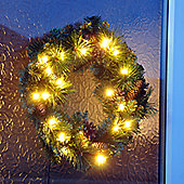 45cm Deluxe Christmas Wreath With Warm White LEDs